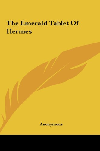 9781161462142: The Emerald Tablet of Hermes