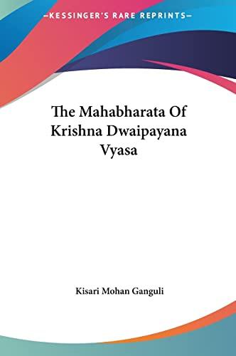 9781161469813: The Mahabharata Of Krishna Dwaipayana Vyasa