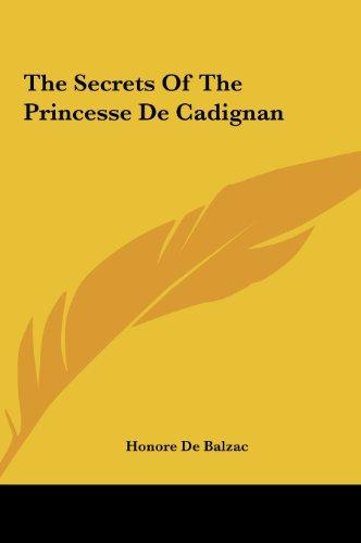 9781161476644: The Secrets of the Princesse de Cadignan