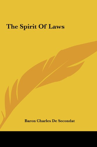 9781161477528: The Spirit of Laws