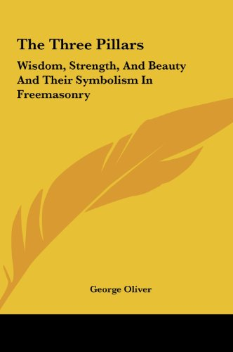 9781161502077 The Three Pillars Wisdom Strength And Beauty And