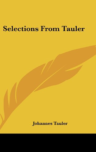 9781161503340: Selections From Tauler
