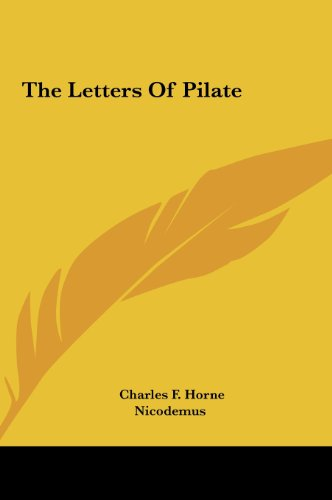 9781161512953: The Letters Of Pilate