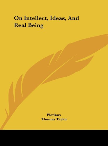 9781161519976: On Intellect, Ideas, And Real Being
