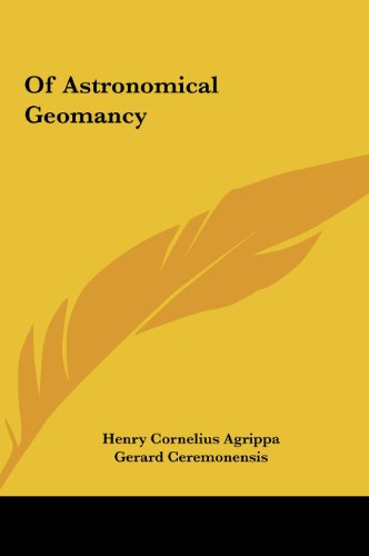 9781161534993: Of Astronomical Geomancy