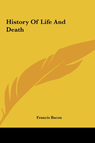 9781161549393: History of Life and Death History of Life and Death