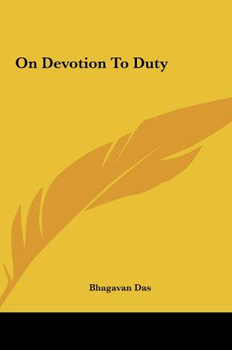 9781161561968: On Devotion to Duty