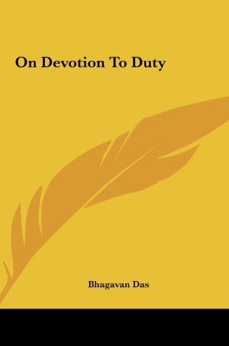 9781161561968: On Devotion to Duty