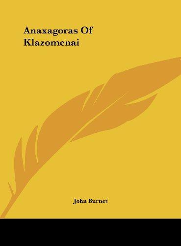 9781161563672: Anaxagoras Of Klazomenai