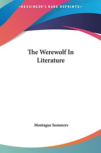 9781161563825: The Werewolf In Literature