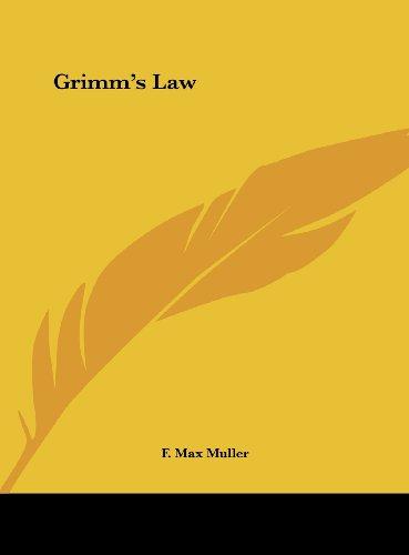 9781161579338: Grimm's Law