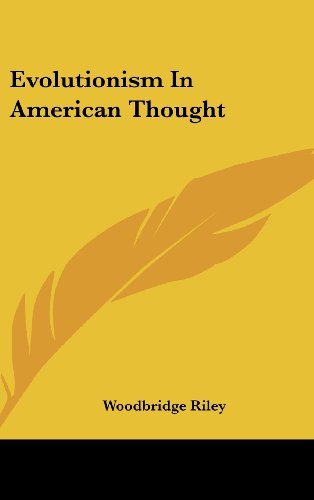 Evolutionism In American Thought