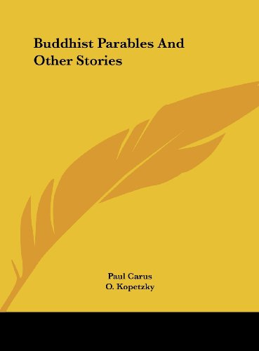 9781161593600: Buddhist Parables And Other Stories