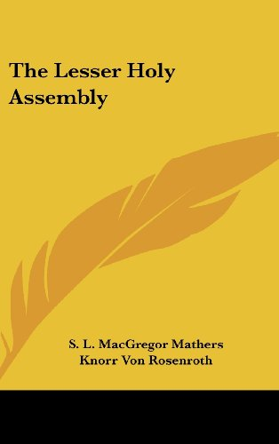 9781161595161: The Lesser Holy Assembly