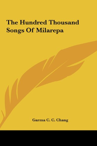 9781161603187: The Hundred Thousand Songs of Milarepa