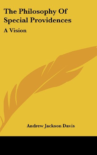9781161609882: The Philosophy Of Special Providences: A Vision