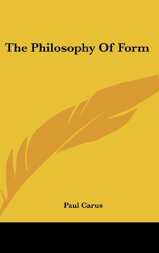 9781161618808: The Philosophy Of Form