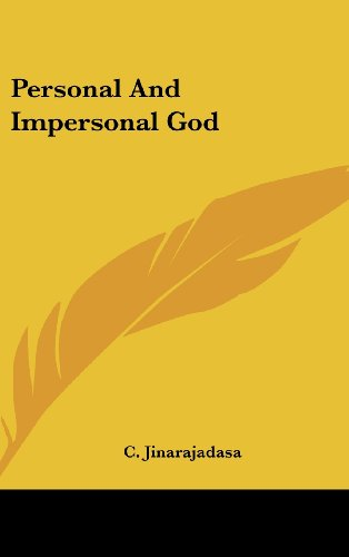 9781161630480: Personal And Impersonal God