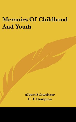 9781161635607: Memoirs of Childhood and Youth