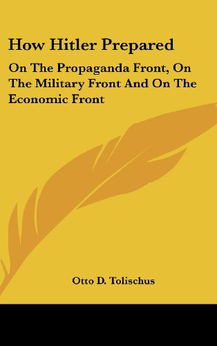 9781161640939: How Hitler Prepared: On The Propaganda Front, On The Military Front And On The Economic Front