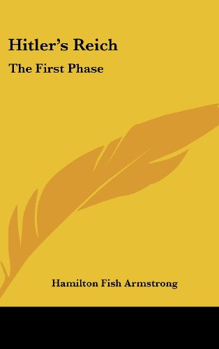 9781161644517: Hitler's Reich: The First Phase