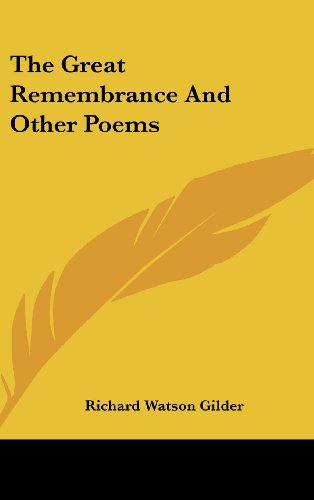 9781161680973: The Great Remembrance and Other Poems