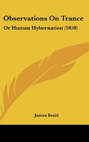 9781161802702: Observations on Trance: Or Human Hybernation (1850)