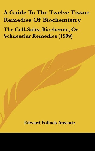 9781161853537: A Guide To The Twelve Tissue Remedies Of Biochemistry: The Cell-Salts, Biochemic, Or Schuessler Remedies (1909)