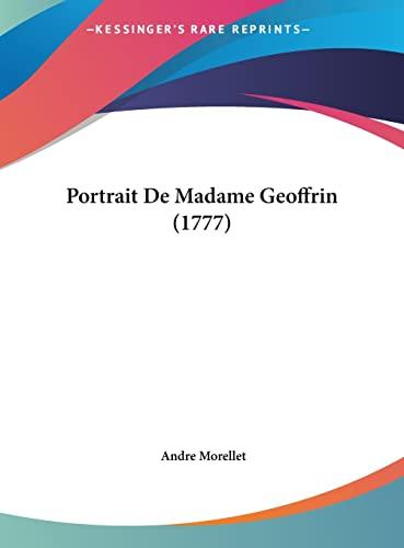 9781162022093: Portrait de Madame Geoffrin (1777)