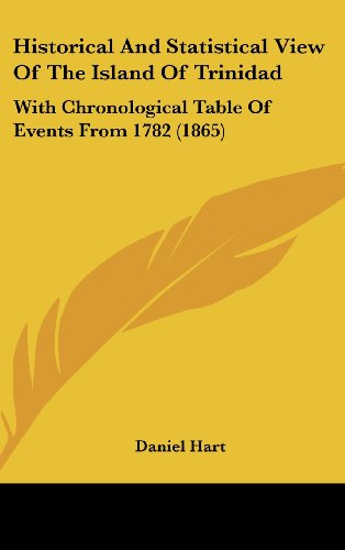 9781162081618: Historical and Statistical View of the Island of Trinidad: With Chronological Table of Events from 1782 (1865)
