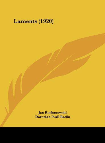 9781162105475: Laments (1920)