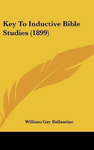9781162113937: Key To Inductive Bible Studies (1899)