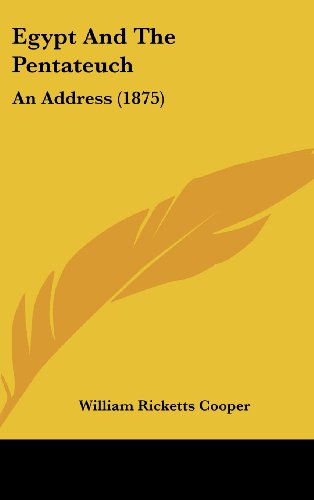 9781162208831: Egypt and the Pentateuch: An Address (1875)