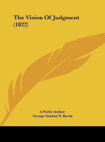 9781162239408: The Vision of Judgment (1822)