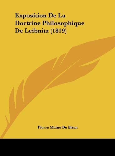 9781162283784: Exposition de La Doctrine Philosophique de Leibnitz (1819)
