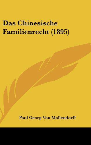 9781162356587: Das Chinesische Familienrecht (1895)