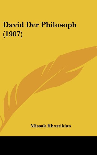 9781162372129: David Der Philosoph (1907) (German Edition)
