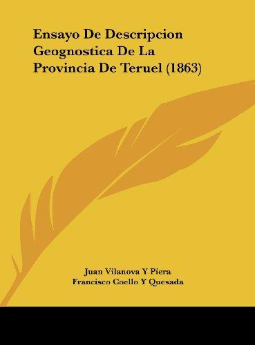 9781162469683: Ensayo de Descripcion Geognostica de La Provincia de Teruel (1863)