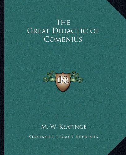 9781162560328: The Great Didactic of Comenius