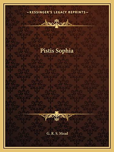 9781162560908: Pistis Sophia