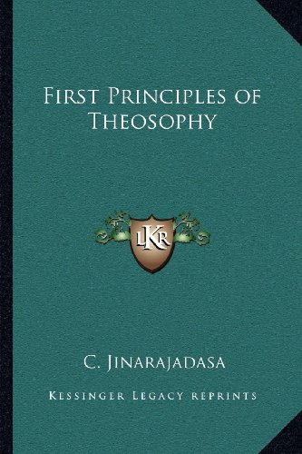 9781162564142: First Principles of Theosophy