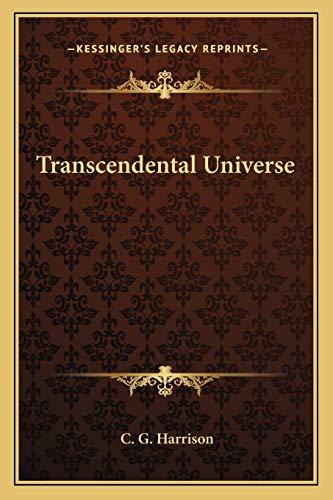 9781162574721: Transcendental Universe