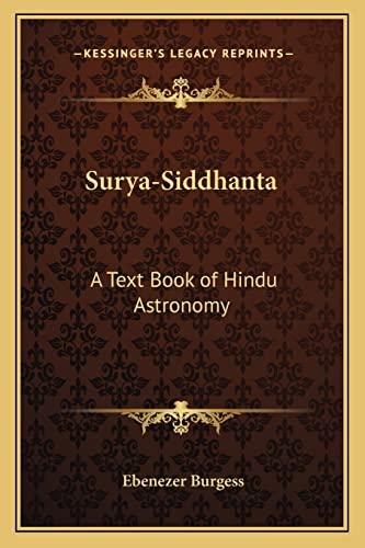 9781162575094: Surya-Siddhanta: A Text Book of Hindu Astronomy