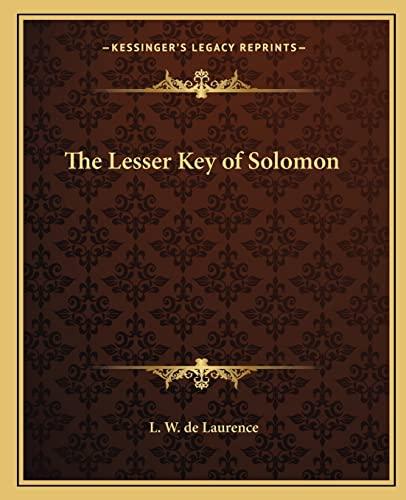9781162575513: The Lesser Key of Solomon