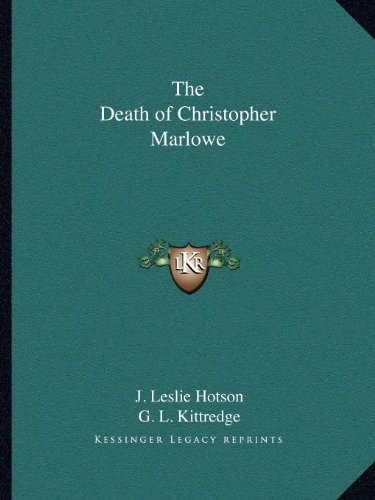 9781162579382: The Death of Christopher Marlowe