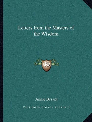 9781162582511: Letters from the Masters of the Wisdom