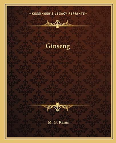 9781162584997: Ginseng