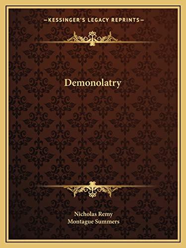 9781162585222: Demonolatry