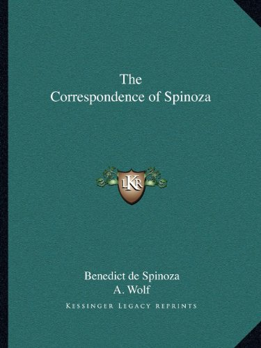 9781162585543: The Correspondence of Spinoza
