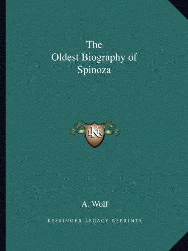 9781162588834: The Oldest Biography of Spinoza